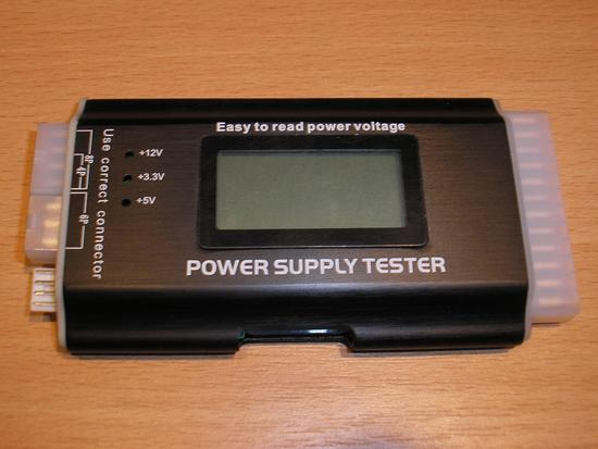 DeLock tester ATX zdrojů III (24-pin), LCD display